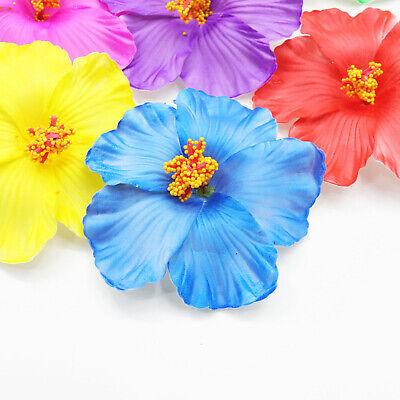 Hibiscus Wedding - 10-100pc Artificial Hibiscus Flowers Heads Hawiian Plumeria Flower Wedding Decor