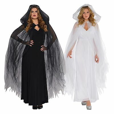 ded Cape Halloween Fancy Dress Outfit Accessory Ghost Angel (Angel Fancy Dress Halloween)
