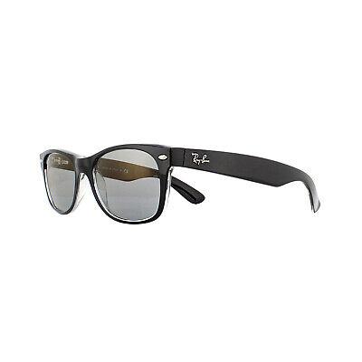 Ray-Ban Sunglasses New Wayfarer 2132 6398Y5 Black Blue Washed Small (Ray Ban New Small Wayfarer 52mm Sunglasses)