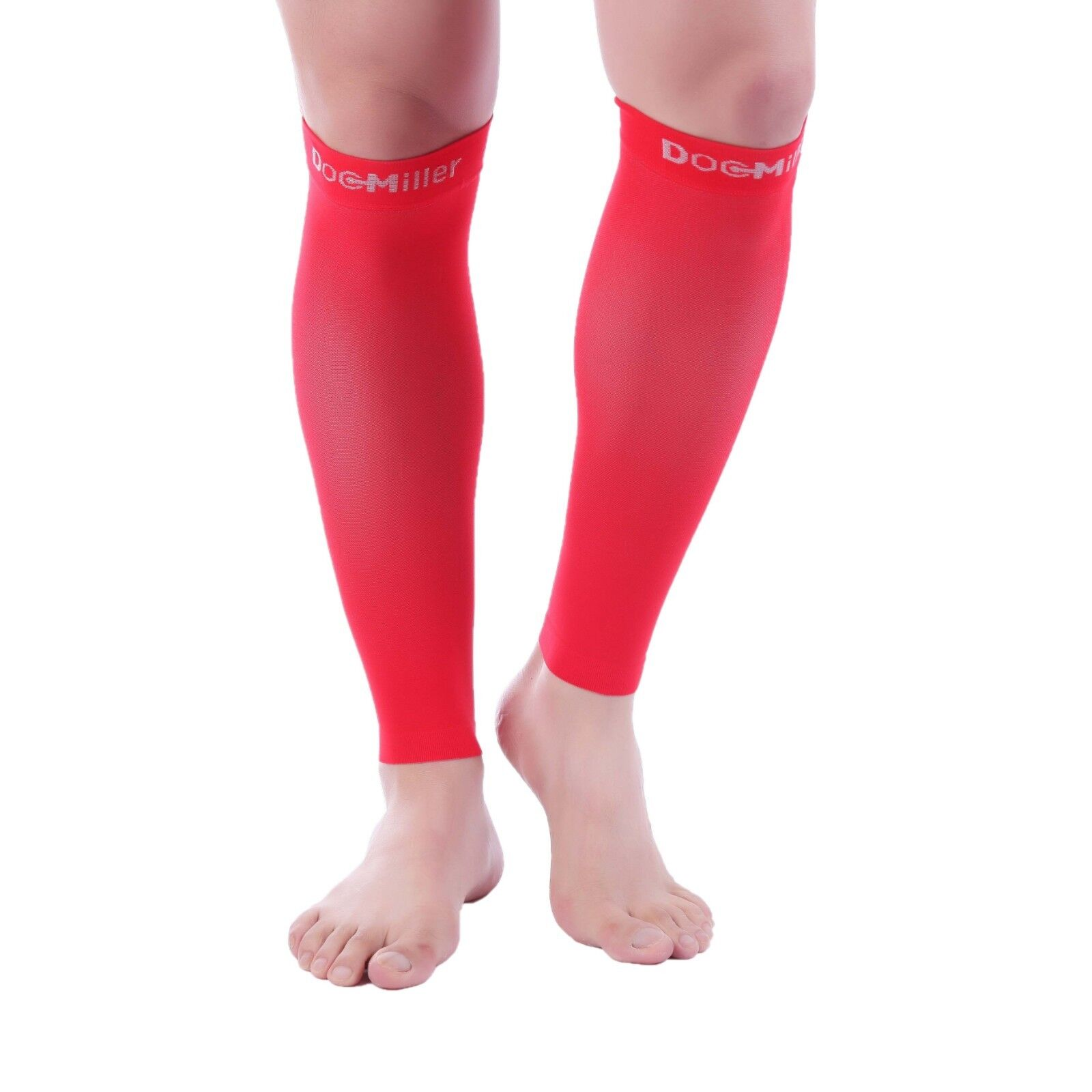 a87193d1ed8 Details about Doc Miller Calf Compression Sleeve 1 Pair 20-30mmHg Recovery  Varicose Veins RED