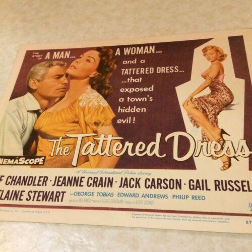 "Jeff Chandler Original Handsome In ""The Tattered Dress"" 1957 Jeanne Crain 11x14"