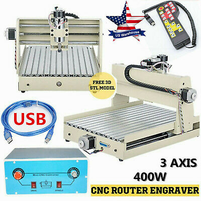 Usb 3 Axis 400w Cnc 3040 Router Engraver Wood Drillmilling Machine Handwheel