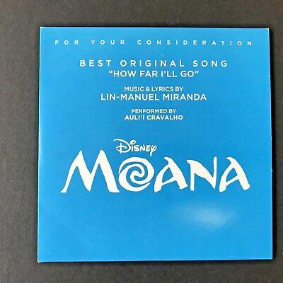 Moana  Fyc Original Song   How Far Ill Go   Cd  2017 Disney  Lin Manuel Miranda
