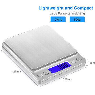 0.01-500g Balanza de Cocina Peso Digital Electronico de Precision Bascula Pesa