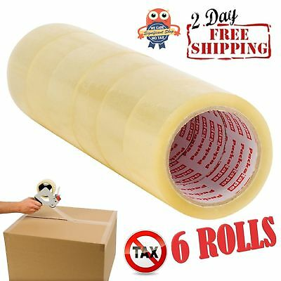 SALE Clear Moving & Storage Packing Tape-6 Rolls Shipping Packaging Heavy Duty