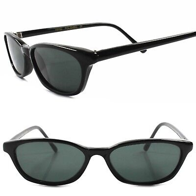 Old Stock Classic True Vintage 80s 90s Urban Fashion Black Rectangle Sunglasses
