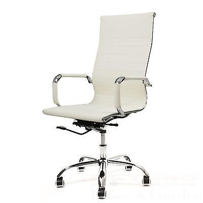 B-WARE Bürostuhl beige Kunstleder Drehstuhl Schreibtischstuhl Chefsessel Design