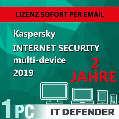 Kaspersky Internet Security 2019 1 PC 2 Jahre EU Deutch Antivirus /auch für 2018