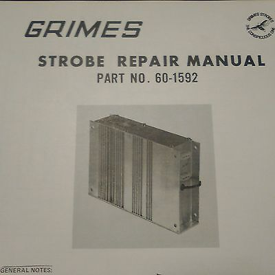 Grimes Strobe Repair Data Sheets for 60-1592