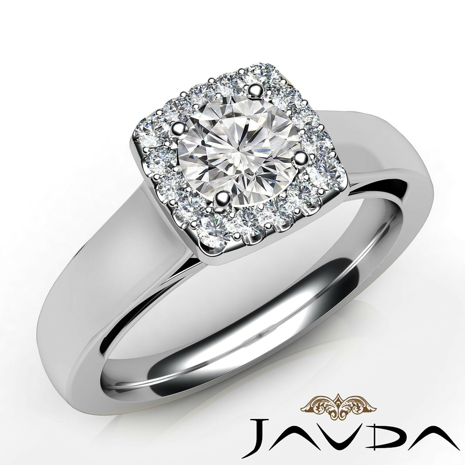 0.81ctw Filigree Lace Round Diamond Engagement Ring GIA F-VVS2 White Gold Rings