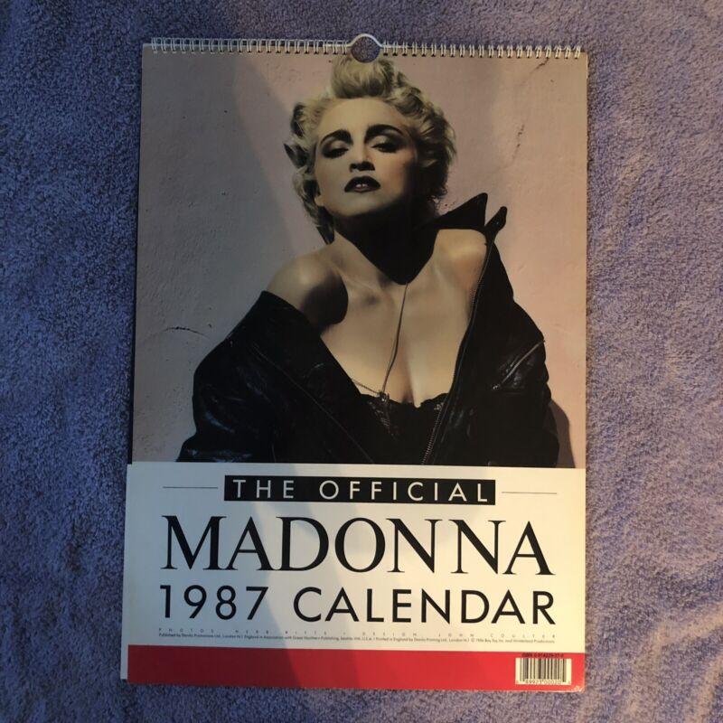 Vintage 1987 MADONNA CALENDAR Official