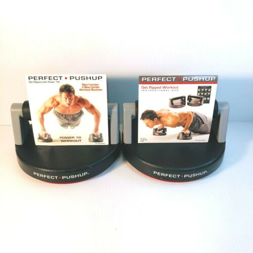 The Original Perfect Push Up Basic Training Rotating Grip Fitness Eqpt + 2 DVD