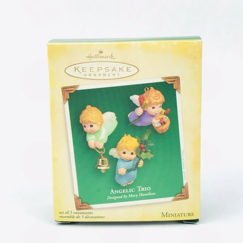 Hallmark Keepsake Ornament Angelic Trio set 3 Miniature Angels by Mary Hamilton
