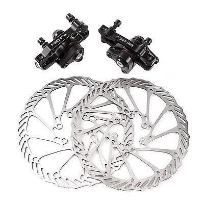Mechanical Disc Brake MTB Bike Cycling Bicycle Front Rear Caliper 160mm Rotors
