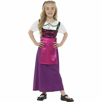Bavarian Princess Queen Oktoberfest German Girls Childs Fancy Dress Costume