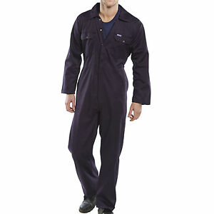 Navy-Blue-BOILER-SUIT-OVERALL-COVERALL-Mechanic-college-work-SMALL-3XL ...