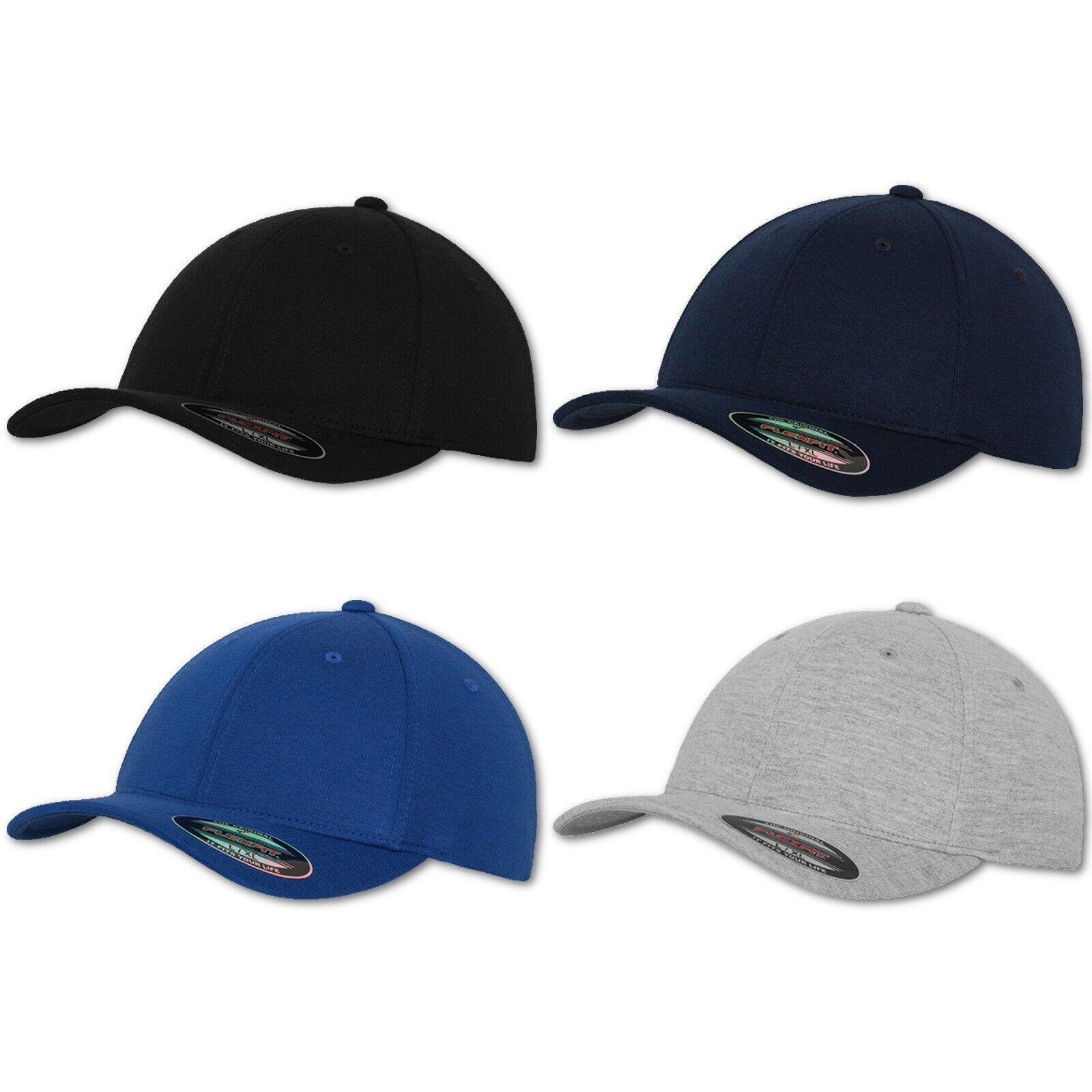 Flexfit Cap Baseball Caps Kappe Double Jersey Mütze Flex Fit Basecap Hut Hat Neu