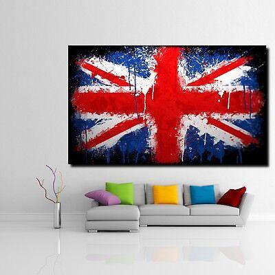 Union Jack Leinwand (LEINWAND BILD XXL POP ART UNION JACK GRAFFITI FLAGGE ENGLAND FAHNE POSTER 150x90)