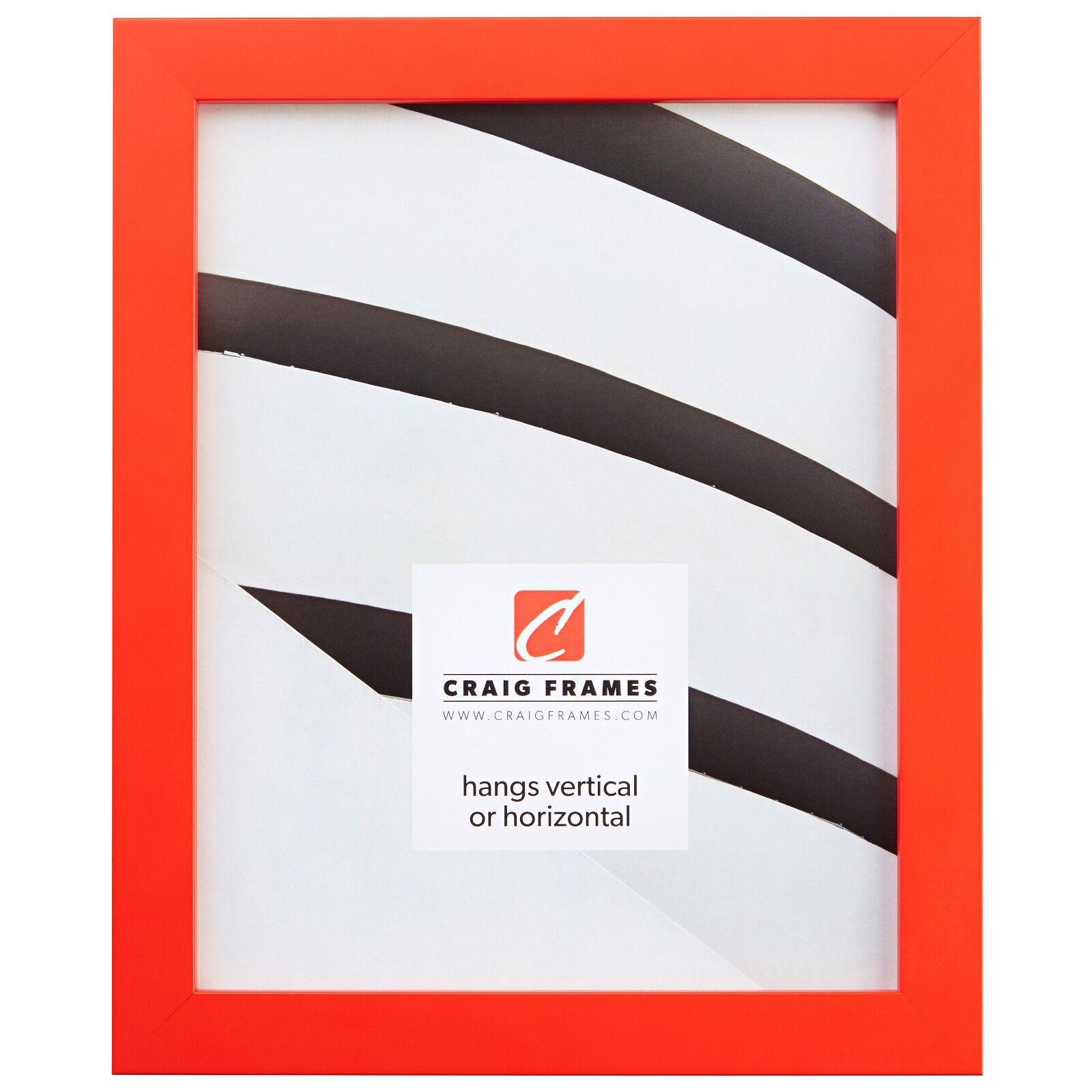 """Craig Frames 0.875"""" Confetti, Modern Orange Solid Wood Pictu"""