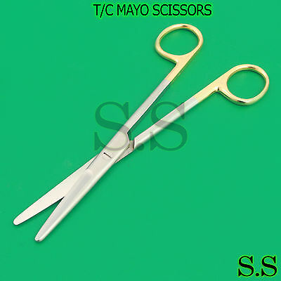 New 2 Ea Surgical Operating Medical Mayo Scissors Straight 5.5 Aquality