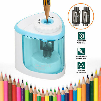 Electric Pencil Sharpener Automatic Touch Switch Battery Power Classroom Office