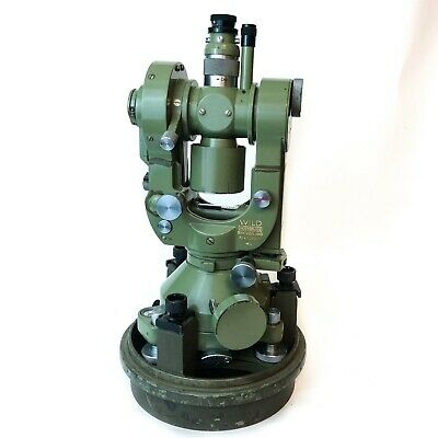 Vintage Wild Heerbrugg T2 Theodolite Military Mil 128609 Switzerland And Case