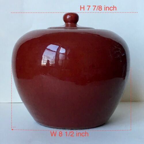 Chinese 18th Century Sang De Boeuf Oxblood Ginger Jar with lid Qianlong Period