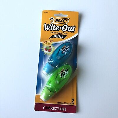 Bic Wite-out Brand Correction Tape Mini Twist 15 X 26.2 Ft 314 White New