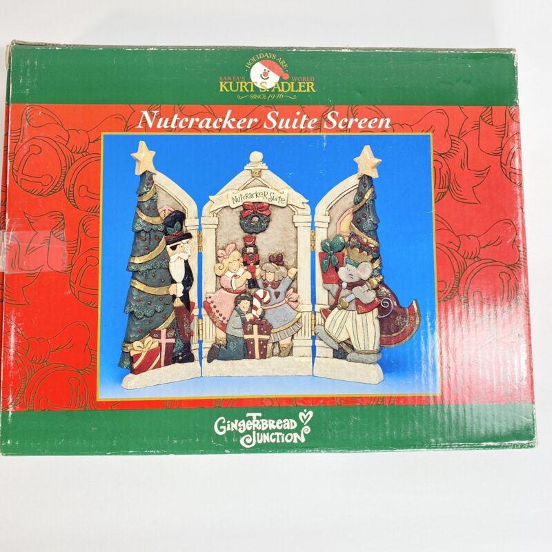Kurt S Adler Christmas Nutcracker Suite Screen Gingerbread Junction