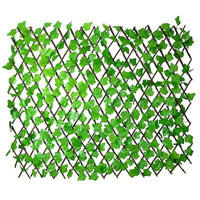 Simpa® Artificial Ivy Trellis Privacy Fencing Screen - Extends to 2m x 1m