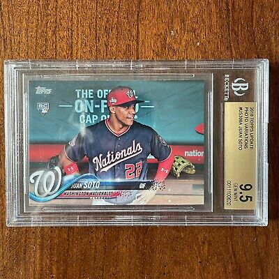 2018 Topps Update Juan Soto Photo Variation Sp Rc Rookie BGS 9.5! Rare!