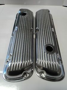 SBF Finned Aluminum Valve Covers 289 302 351W 5.0L Fits SB Ford Mustang Falcon