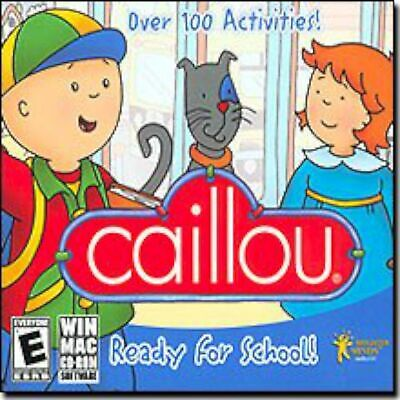 NEW SEALED Caillou Ready For School MAC/PC Video Game kids educational learning (Games For School)