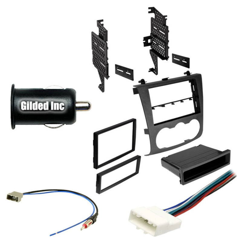 Car Radio Stereo Single Double DIN Dash Kit Harness for 2007-2012 Nissan Altima