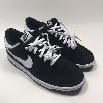 NIKE Dunk Low Black White 904234-001 sb Skate Shoes Suede size 11.5 Dunk Low Skate Shoes