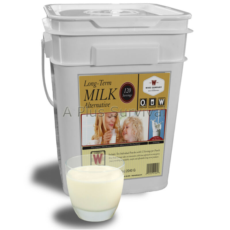 Wise Foods 120 Serving Bucket Dry Milk Survival Rations PLUS FREE Water