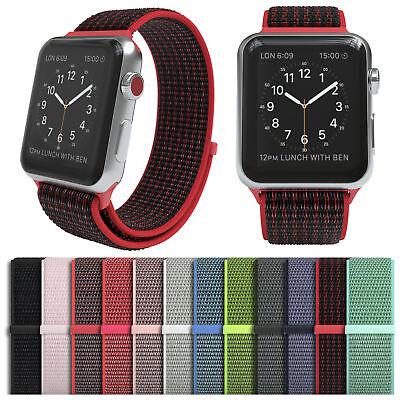 Für Apple Watch Armband Nylon Uhrenarmband Sport Loop Series 1 / 2 / 3 / 4 - Apple Sportarmband