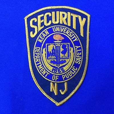 Security Kean University Public Safety N J Shoulder Patch Free Shipping