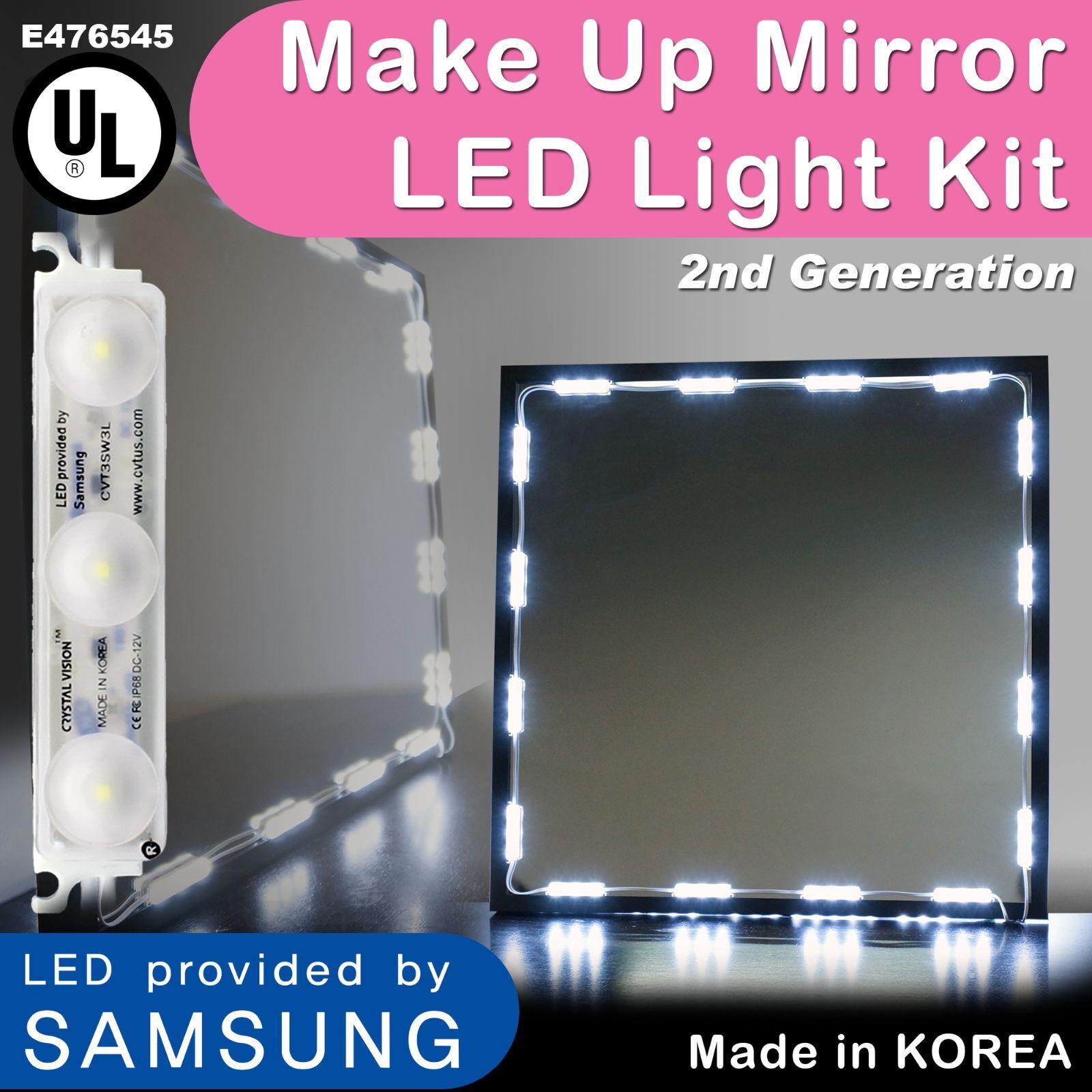 Crystal Vision Samsung Make Up Mirror LED Light Kit 12ft for Vanity Room & Frame