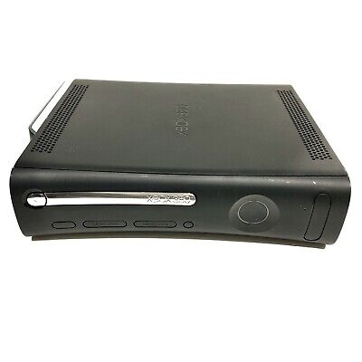 Xbox 360 Video Game System Black Console Only with Power Cord and AV