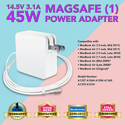 """FOR APPLE MacBook Air 11"""" 2008 to 2011 45W Power Adapter Charger A1369 A1370"""