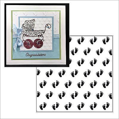 Baby Feet Embossing Folders Background - Nellie Snellen Folder 6x6