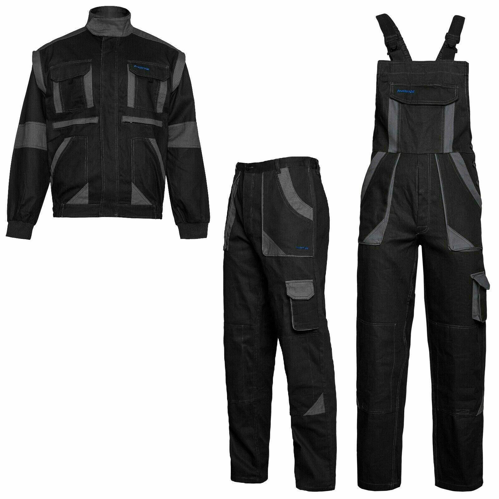 Arbeitshose Latzhose Arbeitsjacke 100% Baumwolle Schutzkleidung Berufskleidung
