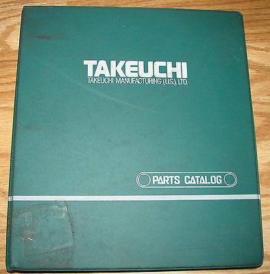 Takeuchi Tb020 Compact Excavator Parts Catalog Manual Binder 1991