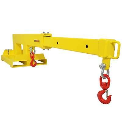 Forklift Mobile Crane Lifting Hoist Truss Jib Boom 2 Hooks 5500 lb Capacity