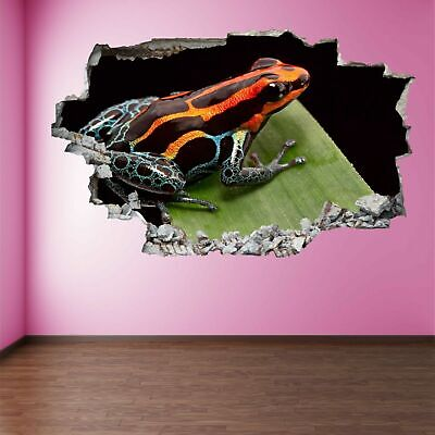 Poison Dart Frog Rainforest Animal Wall Art Stickers Mural Decal Home Decor FA4