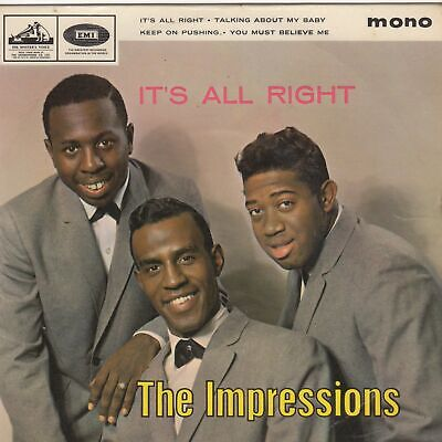 Impressions Its All Right EP HMV 7EG8896 Soul Northern Rocksteady