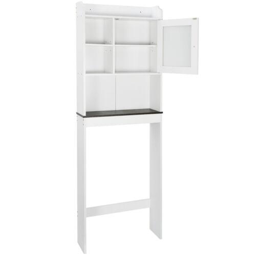 Cabinet White Over Toilet Bathroom Space Saver Storage Shelf Rack Organizer Wood Bath