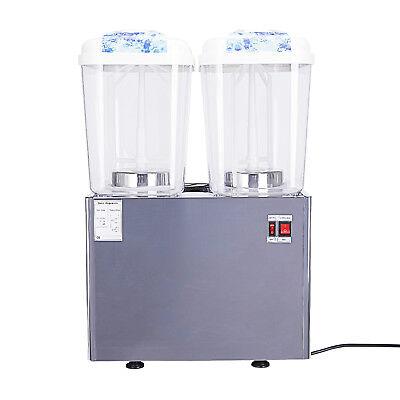 Commercial 2-tank Juice Beverage Drink Cold Dispenser Fruit Ice Tea