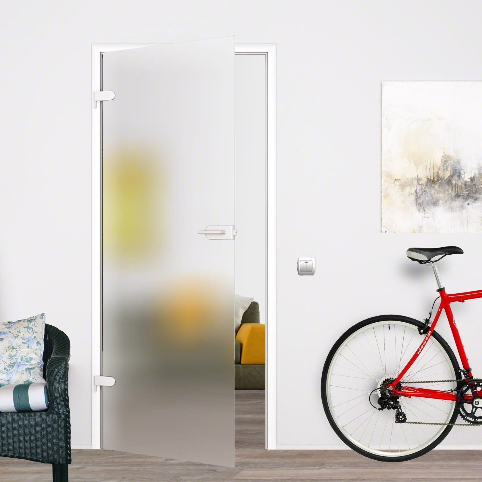 Glas Zimmertür Tür Glastür Tuer Drehtür blickdicht satiniert matt Dekor SSD